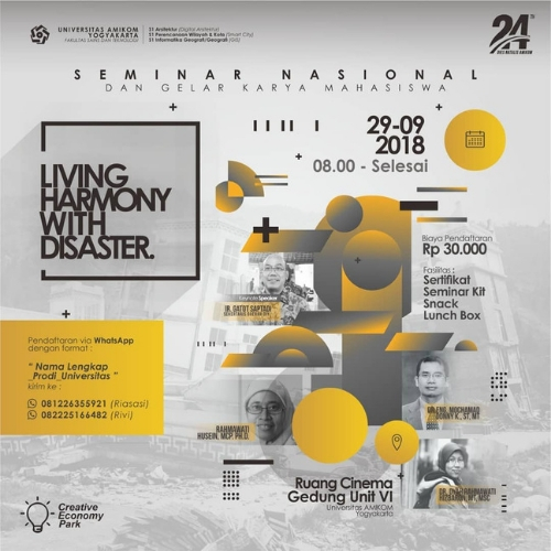 20180929 Seminar Nasional Living in Harmony with Disaster