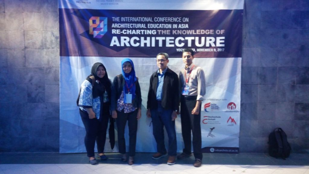dosen prodi arsitektur dalam konferensi internasional UII
