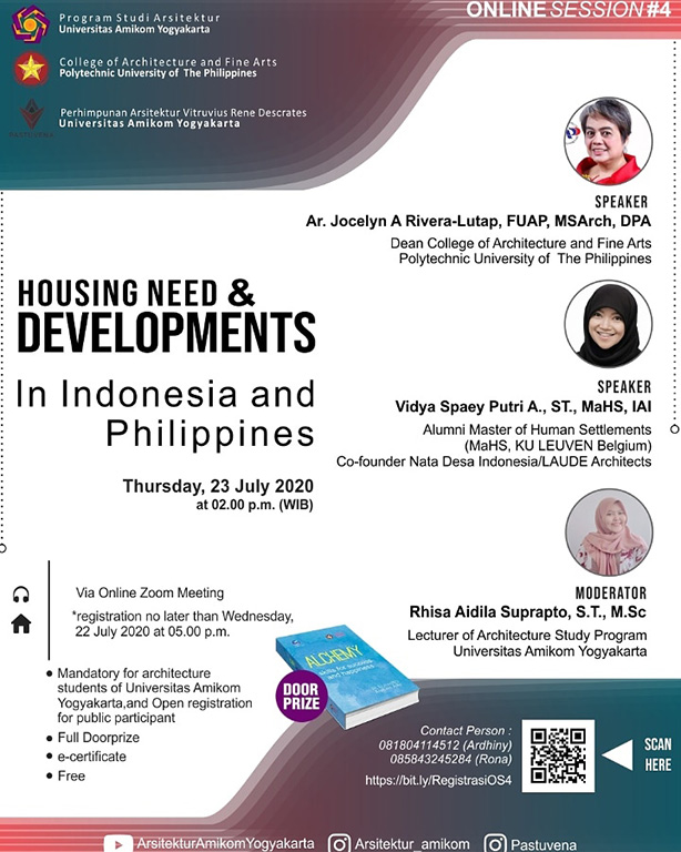 Arsitektur Amikom Online Session #4: Housing Needs and Development in Indonesia and Philippines