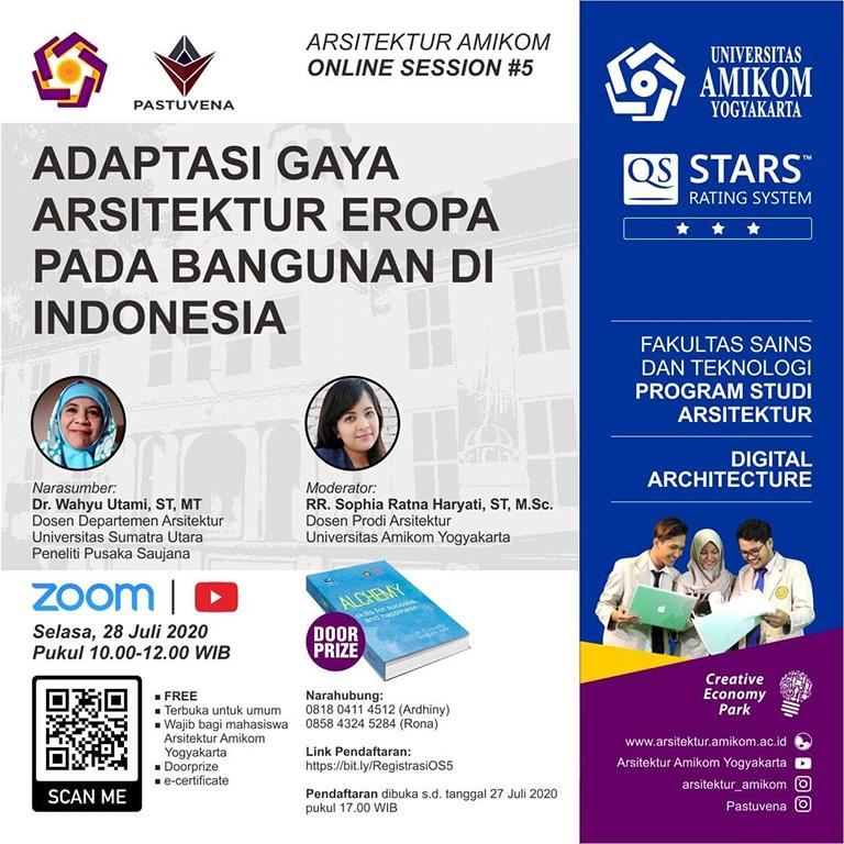 Arsitektur Amikom Online Session #5: Adaptasi Gaya Arsitektur Eropa pada Bangunan di Indonesia