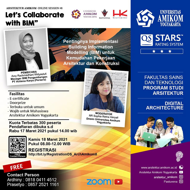 Arsitektur Amikom Online Session #8: Let's Collaborate with BIM